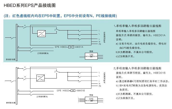 长春应急电源EPS接线图